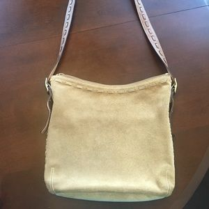 Coach suede cross body purse